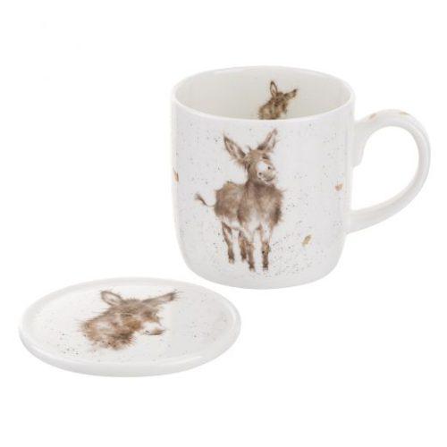 Wrendale Designs Gentle Jack Donkey Mug & Coaster Set