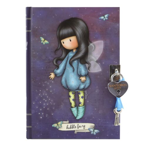 Santoro Gorjuss Lockable Journal - Bubble Fairy