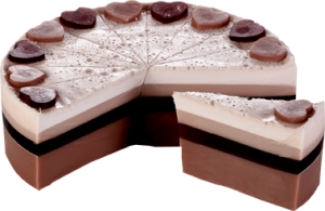 Chocolate Heaven Soap Cake Slice - Bomb Cosmetics