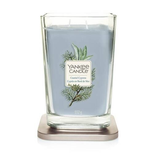 Yankee Candle Elevation Collection – Coastal Cypress - Large 2-Wick Square Candle