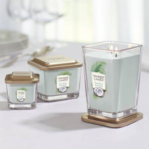 Yankee Candle Elevation Collection - Shore Breeze - Medium 3-Wick Square Candle