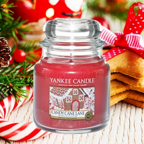 Candy Cane Lane - Yankee Candle - Medium Jar, 411g