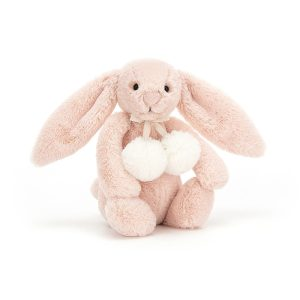 Jellycat Small Bashful Blush Snow Bunny, 18 cm