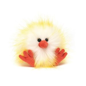 Jellycat – Crazy Chick Yellow & White, 11 cm