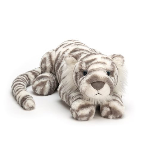 Jellycat Little Sacha Snow Tiger - Medium, 11 Inch