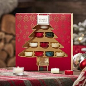 Yankee Candle Tree Shaped 10 Tea Lights & 1 Holder Gift Set - 2019