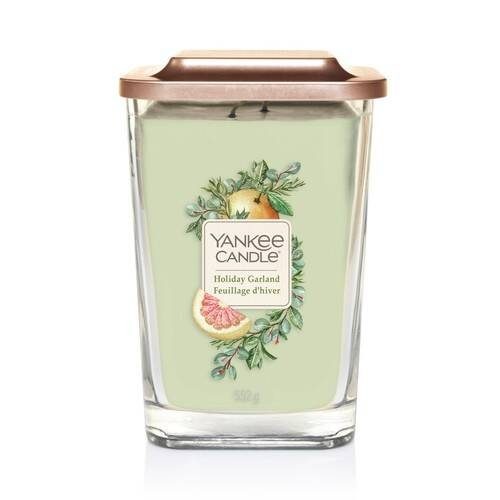Yankee Candle Elevation Collection - Holiday Garland - Large 2-Wick Square Candle