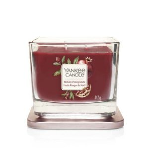 Yankee Candle Elevation Collection - Holiday Pomegranate - Medium 3-Wick Square Candle