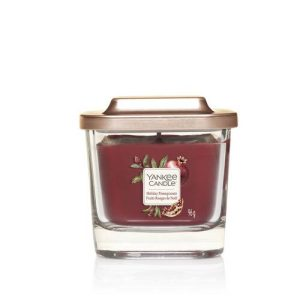 Yankee Candle Elevation Collection - Holiday Pomegranate Small 1-Wick Square Candle
