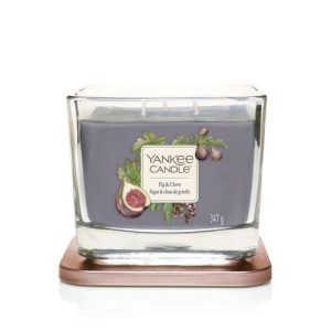 Yankee Candle Elevation Collection - Fig & Clove - Medium 3-Wick Square Candle