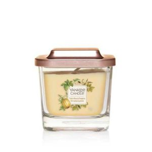 Yankee Candle Elevation Collection - Tonka Bean & Pumpkin - Small 1-Wick Square Candle