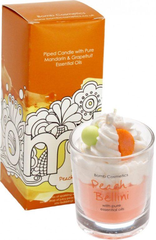 Peach Bellini Piped Candle - Bomb Cosmetics