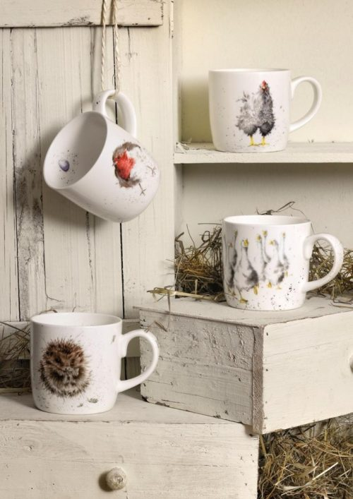Awakening Hedgehog China Mug - Wrendale Designs