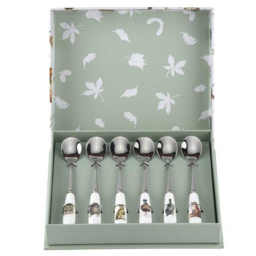 Wrendale Designs Set Of 6 Animal Tea Spoons