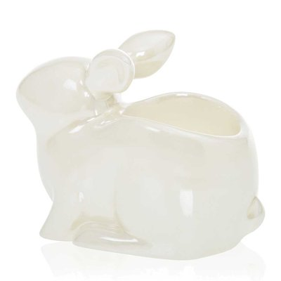Yankee Candle Pearlescent Crackle Bunny Tea Light Holder