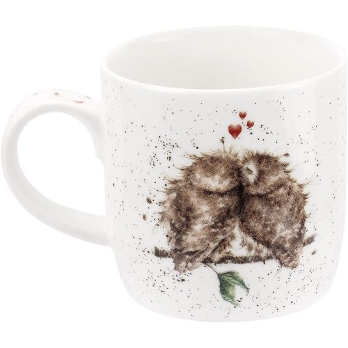 Birds of a Feather Owl China Mug - Wrendale Designs