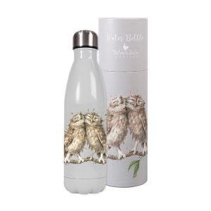 Birds of a Feather Owl Water Bottle - Wrendale Designs