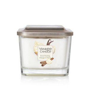 Yankee Candle Elevation Collection – Sweet Frosting – Medium 3-Wick Square Candle