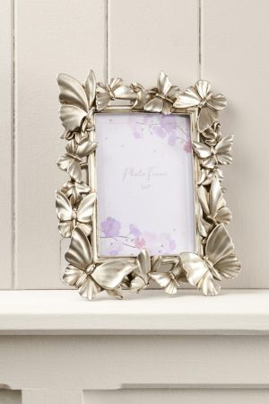Silver 3D Butterfly Frame