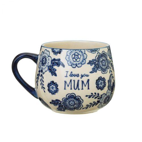 Blue Willow Mum Mug - Sass and Belle