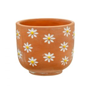 Mini Daisy Terracotta Planter - Sass and Belle