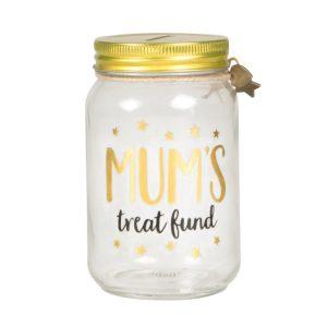 Mum's Treat Fund Money Jar - Sass and Belle
