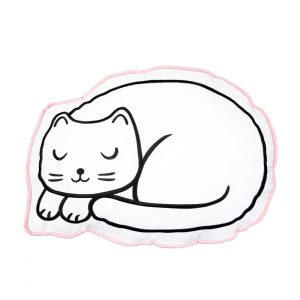 Cutie Cat Nap Time Decorative Cushion - Sass and Belle