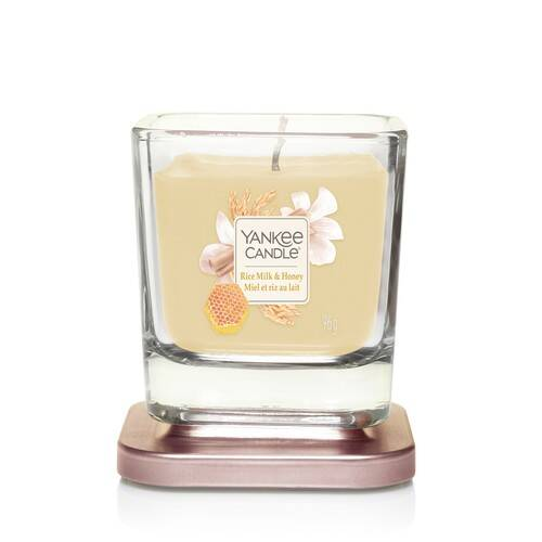 Yankee Candle Elevation Collection - Rice Milk and Honey - Small 1-Wick Square Candle
