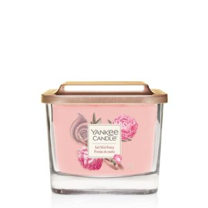 Yankee Candle Elevation Collection - Salt Mist Peony - Small 1-Wick Square Candle