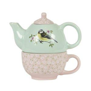 Garden Birds Teapot For One - Sass and Belle