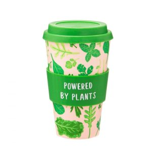 Powered By Plants Bamboo Coffee Cup - Sass and Belle