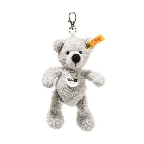 Steiff Fynn Grey Teddy Bear Keyring - EAN 112508