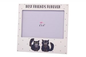 Best Friends Furever Black Cat Photo Frame