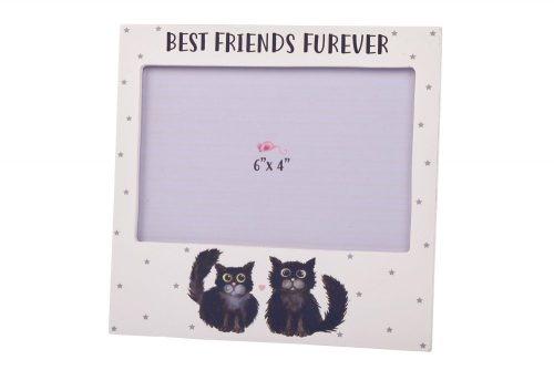Best Friends Furever Black Cat Photo Frame