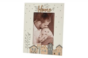 Wooden Houses Home Photo Frame