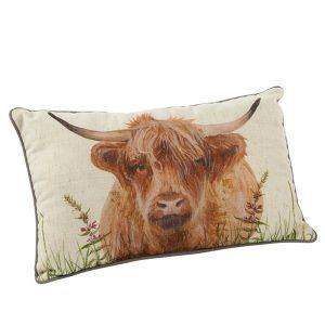 Highland Cow Cushion - A Portrait