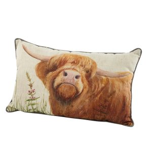 Highland Cow Cushion - Looking Up