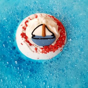 Dunk-in Sailor Boat Bath Bomb, 160g - Bomb Cosmetics
