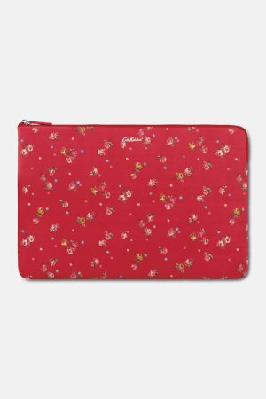 Cath Kidston Wimbourne Ditsy Rose Red 15 Inch Laptop Sleeve