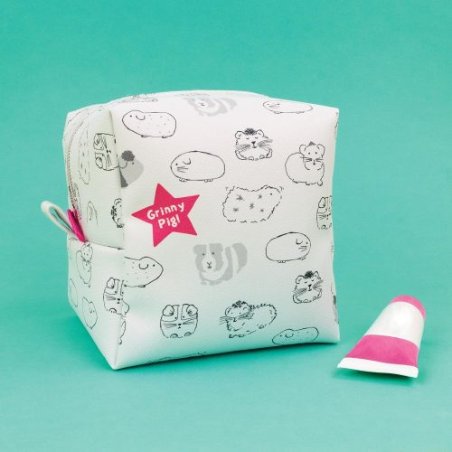 Guinea Pig 'Grinny Pig' Big Zipped Cube Case - GSG10 - Giggle and Snort Collection - Really Good