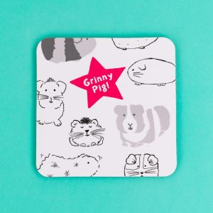 Guinea Pig 'Grinny Pig' Coaster - GSG16 - Giggle and Snort Collection - Really Good