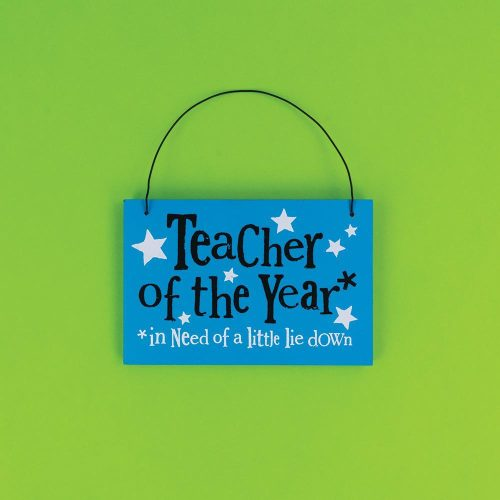 Teacher of The Year Hanging Sign - The Bright Side