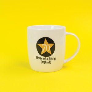 70th Birthday Milestone Mug - The Bright Side - BSHHC59