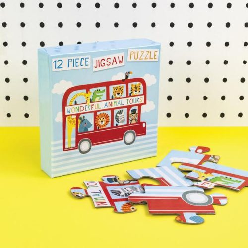 Animal Bus 12 Piece Jigsaw Puzzle - Tickle Collection - Really Good