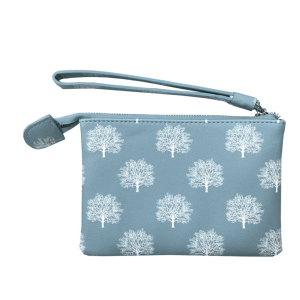 Red Cuckoo - 333 - Blue Trees Zipped Top Purse