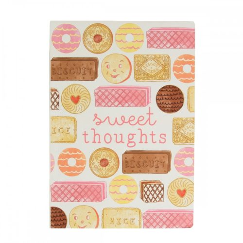Sweet Thoughts Biscuit A5 Notebook - Sass and Belle
