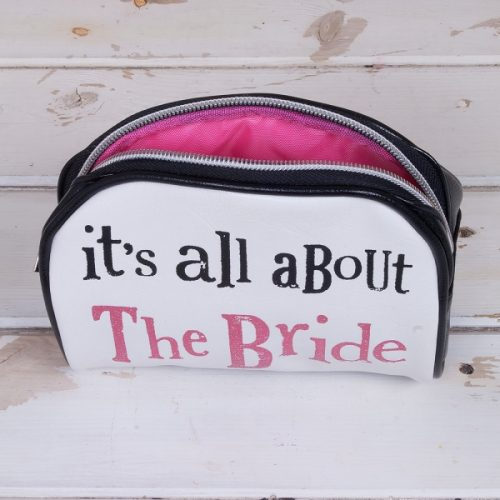 'All About The Bride' Make Up Bag - The Bright Side