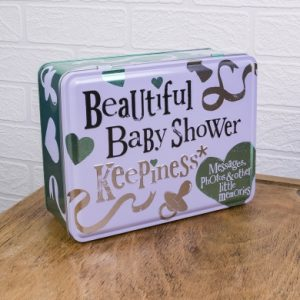Beautiful Baby Shower Keepsake Tin - The Bright Side