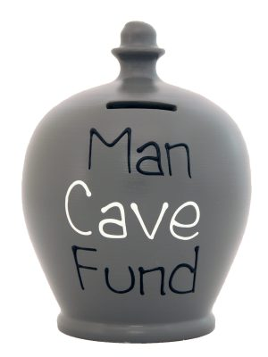 Terramundi Money Pot - Man Cave Fund, Grey - S303