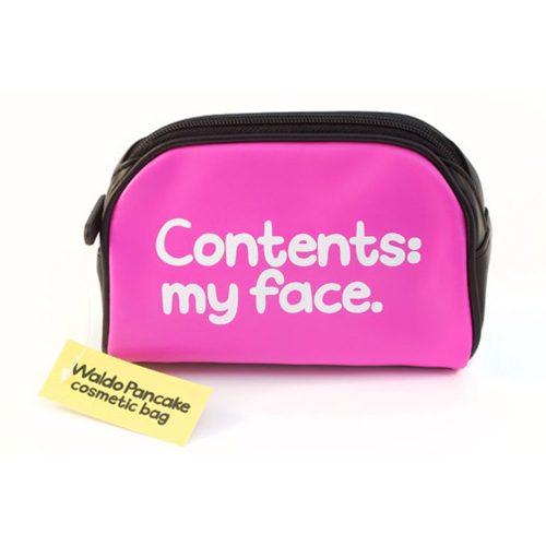 'Contents My Face' Make Up Bag - Waldo Pancake
